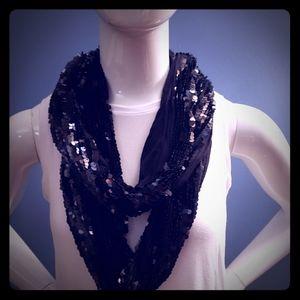 Black sequences Express scarf
